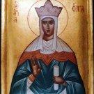 Saint Olga Byzantine Handpainted Icon