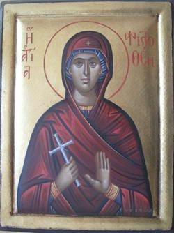 Saint Philothei Byzantine Handpainted Icon