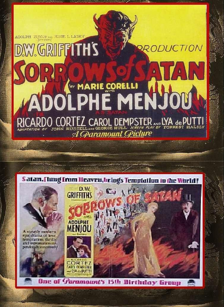 What Stores Accept Paypal Credit >> The Sorrows Of Satan DVD (1926) D.W. Griffith, Ricardo ...