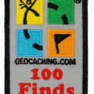 Official Geocaching.com 100 Finds Patch for Geocaching