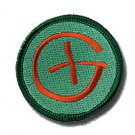 "2"" Brown Geocaching Embroidered Patch  for Geocaching"