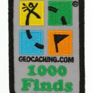 Official Geocaching.com 1000 Finds Patch for Geocaching
