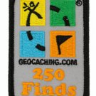 Official Geocaching.com 250 Finds Patch for Geocaching