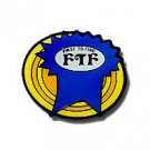 FTF Ribbon - Glows in the Dark Pin Badge for Geocaching
