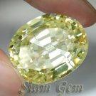 78.2ct. RAVISHING BRILLIANT LAB CANARY DIAMOND OVAL