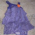 Infant Girl's Sz 9 Mo Adorable Violet Purple & White Polka Dot Dress & Undies