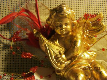 Cherubim Tree Ornament Or Wall or Table Deco