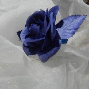 Violet Blue Rose Alligator Clip