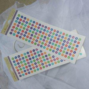 Glitter Dot Alphabet Stickers Paper Craft Supplies