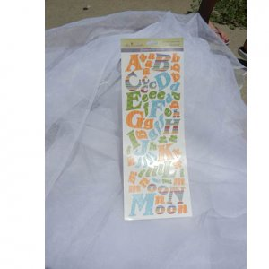 Alphabet Stickers Multiccolor Uppercase Paper Craft Supplies
