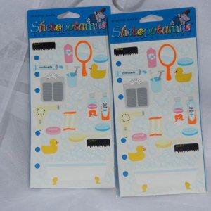 Stickopotamus Bathtime Sticker Set Paper Craft Supplies