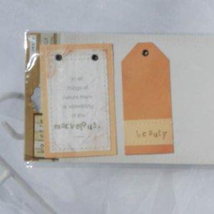 Colorbok Kolette Orange and Purple Quote Tag Set Papercraft Supplies