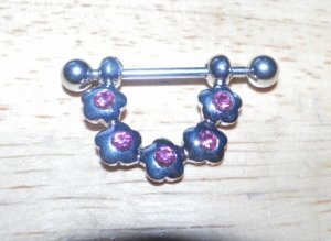 Pink Flowery Nipple Shield Pairs 194