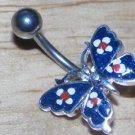 Blue Sparkle Butterfly Navel 761