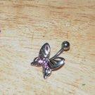 Pink Gem Butterfly Navel 200