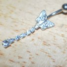 Small Butterfly White with Tail Navel 204