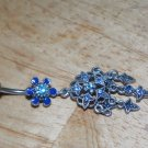 Tarnished Flower Star Blue Charms Navel 335