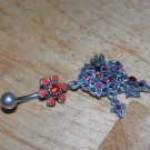 Tarnished Flower Star Red Charms Navel 335