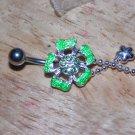 Flower Charms Green Navel 404