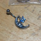 Moon with Butterfly Charm Blue Navel 436