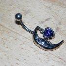 Moon Heart Charm Purple Navel 434
