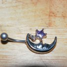 Moon Star Charm Purple Navel 434