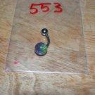 Green & Purple Sparkle Navel 553