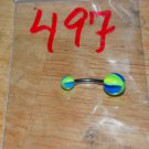 Blue & Green Beach Balls Navel 497