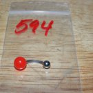 Red Solid Berry Navel 594