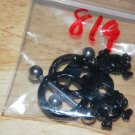Black Skull Charms Nipple Shield Pairs 819