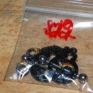 Black Rainbow Charm Handcuffs Nipple Shield Pairs 822