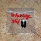 Black 6 Gauge Skull Plug Red Eyes 36