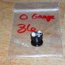 Black 0 Gauge Skull Plug Red Eyes 36