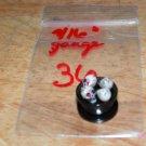 "Black 9/16"" Skull Plug Red Eyes 36"