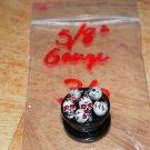 "Black 5/8"" Skull Plug Red Eyes 36"