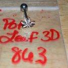 Pot Leaf 3D Tongue 863