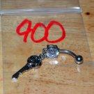 Skull Key White CZ Navel 900