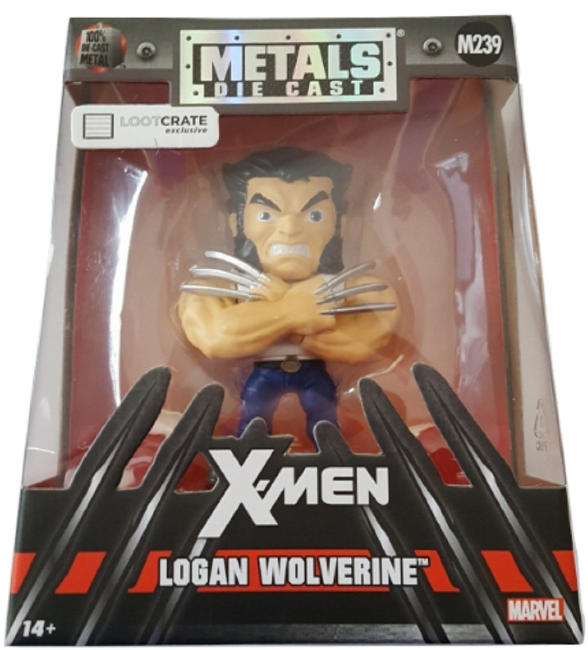 � Marvel Jada Die-Cast Metal Logan Wolverine M239 4.5 inches Figure - NEW �