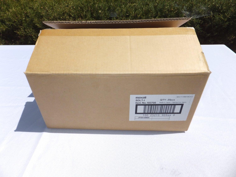 � 20 Pack Maxell 1/2 inch Tape Super DLT Data Cartridge 160GB/320GB Capacity - NEW �