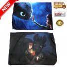 "★ 2 Set TOOTHLESS & HICCUP Throw Pillow Case 16"" x 24"" - Printed on BOTH SIDE- NEW ★"