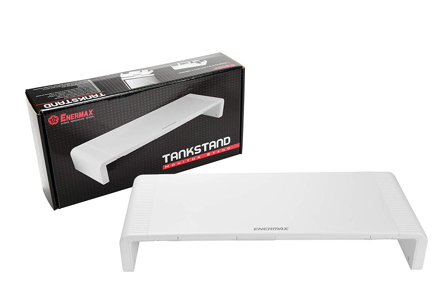 � Enermax Computer Monitor Stand / TV / Game Console Tankstand (White) - NEW �