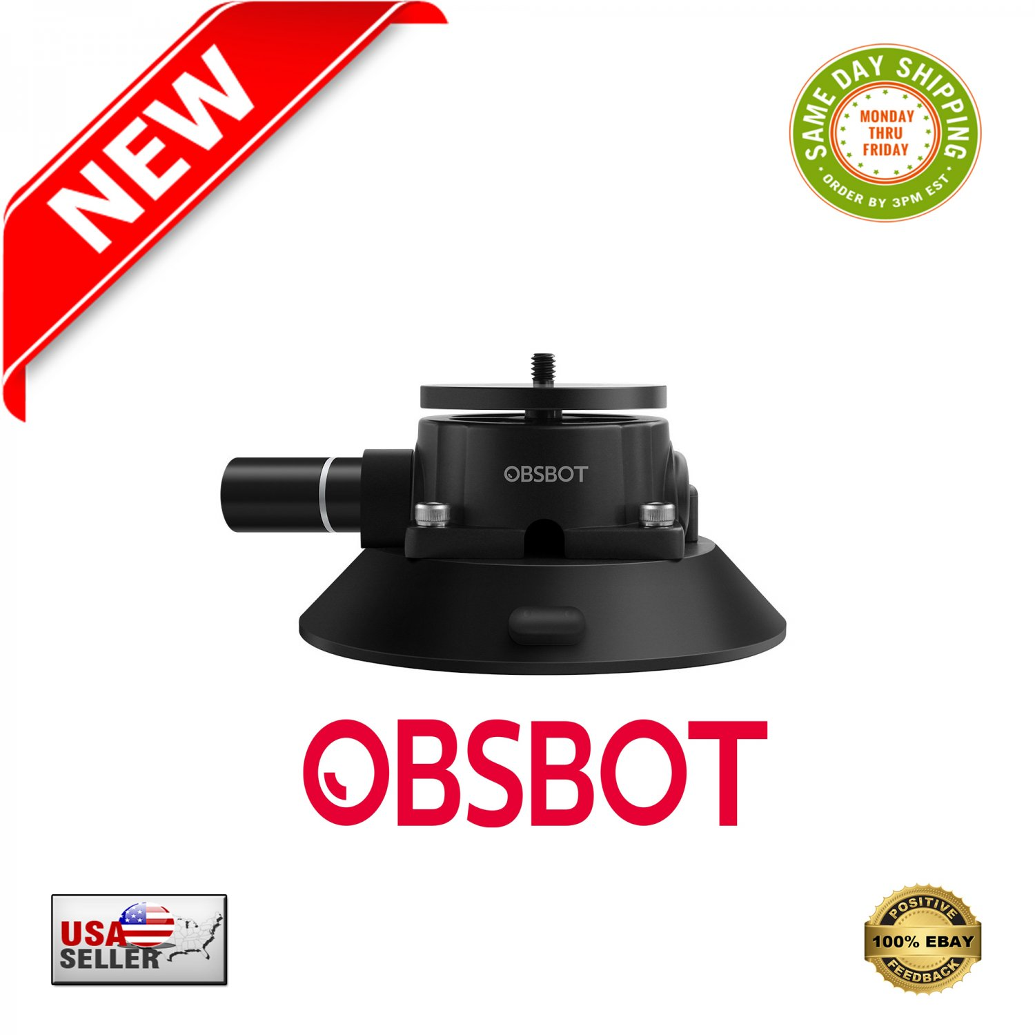 � Industrial-Strength Suction Cup Mount for OBSBOT TAIL Auto-Director AI Camera �
