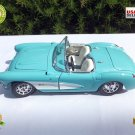 ★ Vintage 1957 CHEVROLET CORVETTE / Sky Blue / 1:18 Collection Die Cast Metal  ★