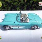 ★ Vintage 1957 CHEVROLET CORVETTE / Sky Blue / 1:18 Collection Die Cast Metal  ★