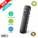★ Voice Activated Digital Audio Recorder 16GB PCM HD Stereo With Noise Reduction ★