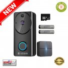 ★ Video Doorbell Camera 1080p with Motion Detector Wi-fi + Chime Module - NEW ★