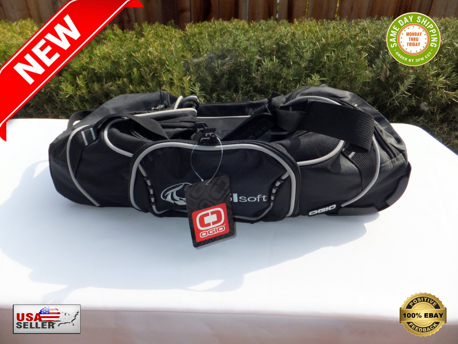 """� OGIO 24"""" Big Rolling Duffle Travel Gym Shoes Bag Luggage Case With Wheels - NEW �"""