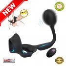 ★ Vibrating Silicone Butt Plug Prostate Massager for Mens with Penis-ring | NEW ★