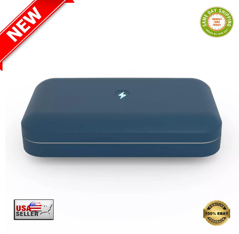 � PhoneSoap Go Battery Powered Smartphone Sanitizer/Portable Charger Indigo - NEW �