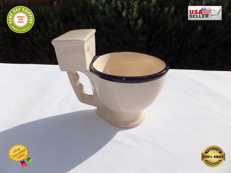 � Ceramic Coffee Mug Toilet Funny Novelty Bowl Tea Cup 12oz | BigMouth Inc | MINT �
